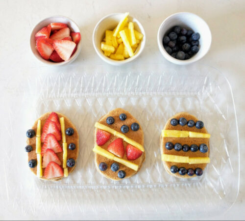 Healthy Easter Egg Pancakes
