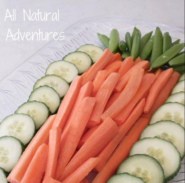 easter carrot veggie tray