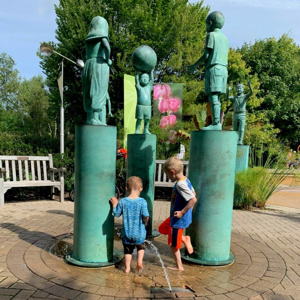 Frederik Meijer Gardens (Grand Rapids, MI) Family Guide - Best Kid-Friendly Spots - Children of the World Fountain