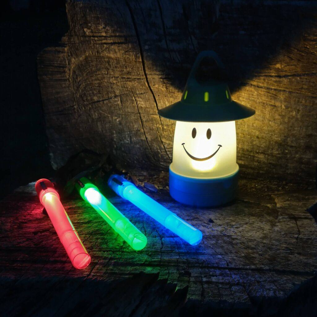 16 Hiking And Camping Games And Activities For Kids- Lanterns or Glow Sticks