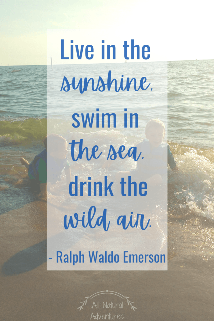 Children's Nature Quotes To Inspire Any Outdoor Adventure With Kids - Exploring Nature - Ralph Waldo Emerson