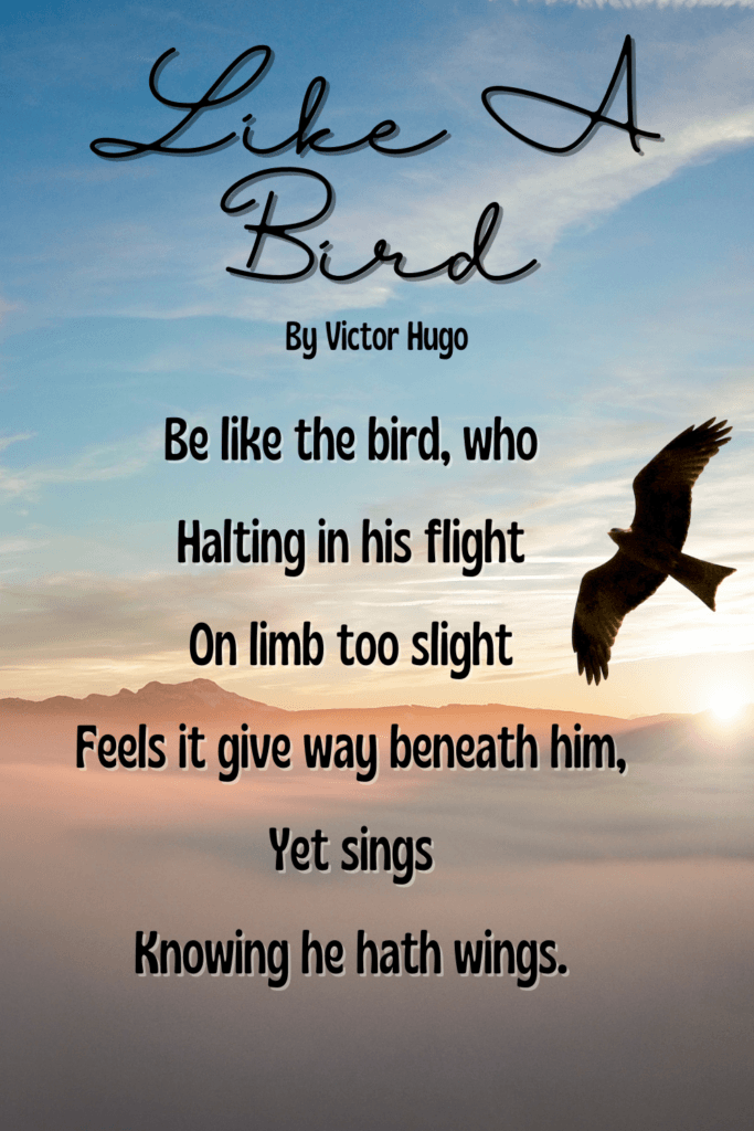 Short & Sweet Nature Poems For Children - Like A Bird By Victor Hugo