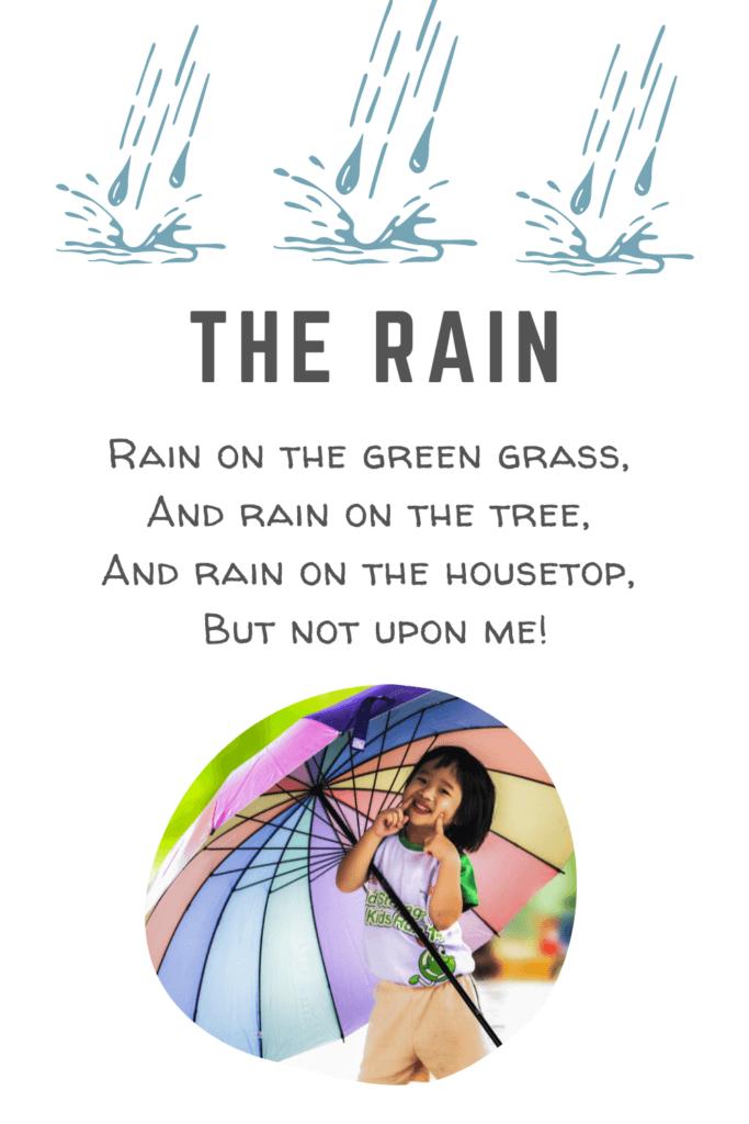 Short & Sweet Nature Poems For Children - The Rain