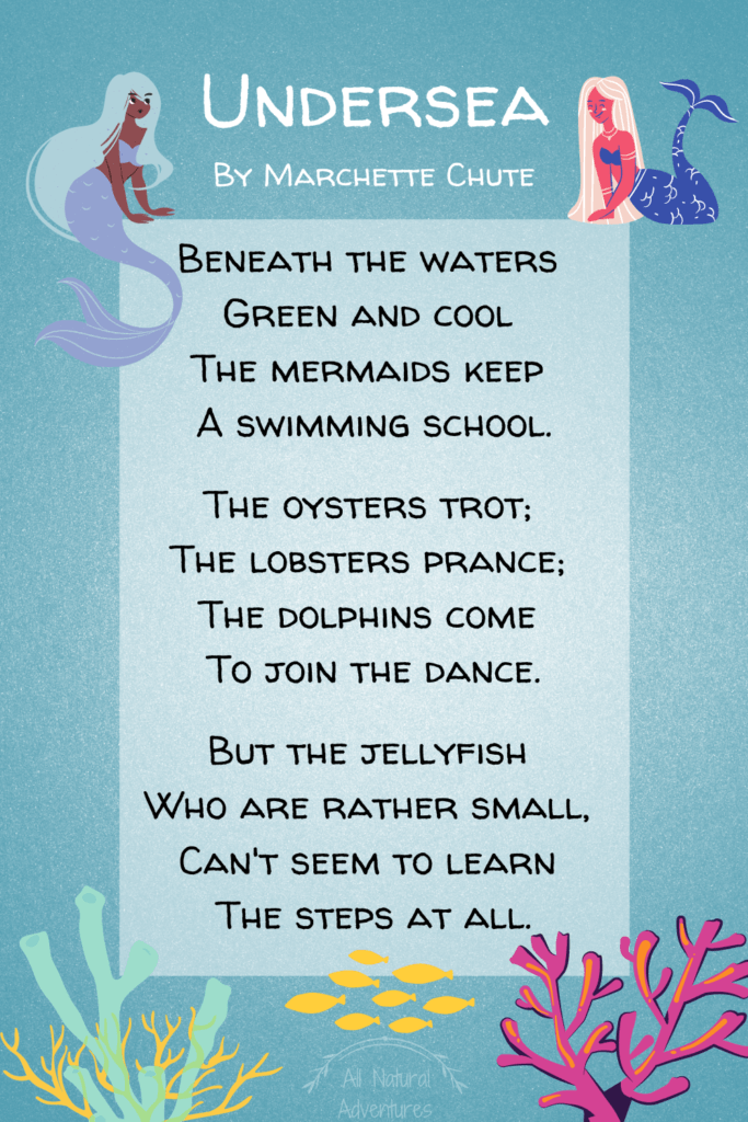 Short & Sweet Nature Poems For Children - Undersea By Marchette Chute