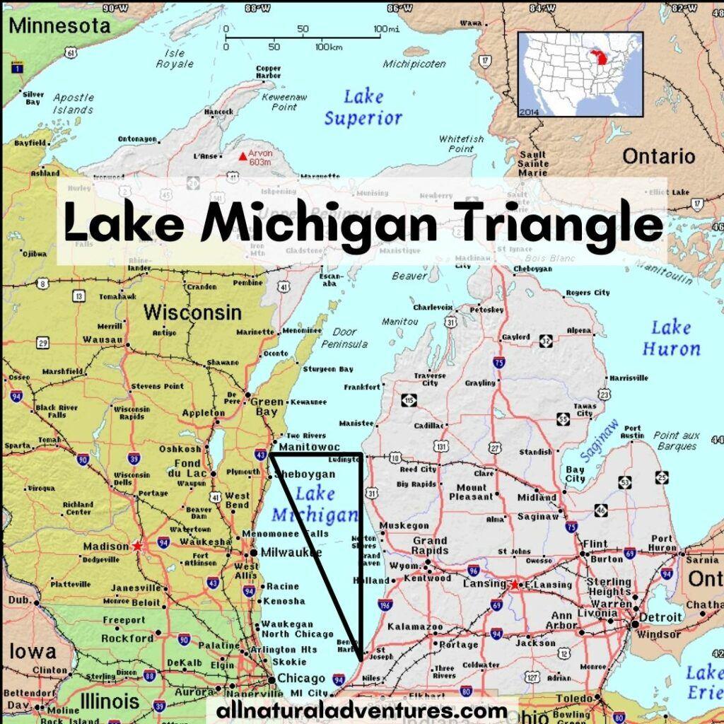 Lake Michigan Triangle Map